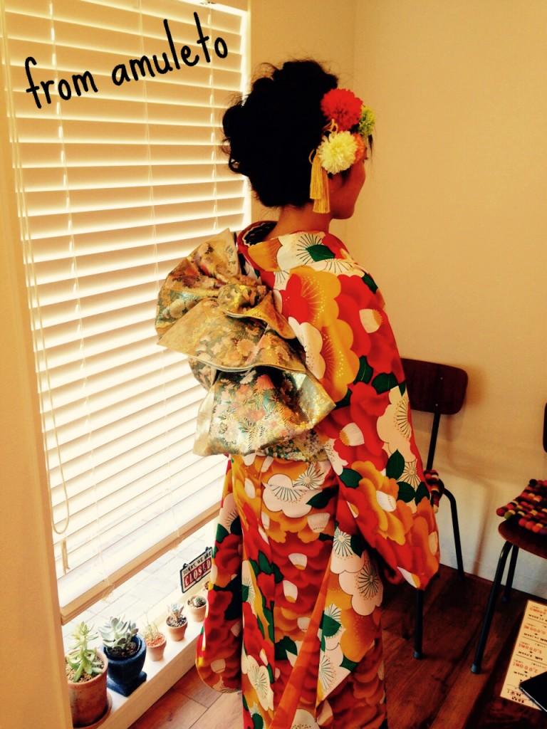 2016年成人式(ヘアセット、着付け)